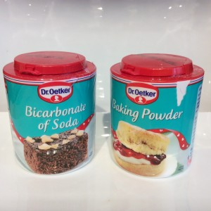 bicarbonate of soda and baking powder