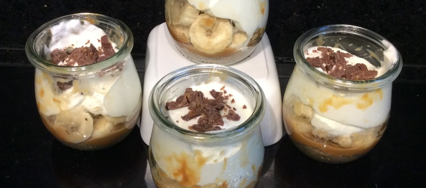 Banoffee Pie Pots