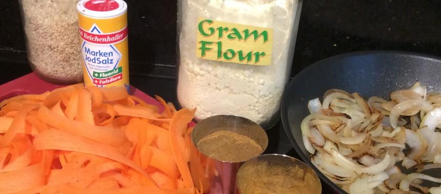 Onion and Carrot Bhajis