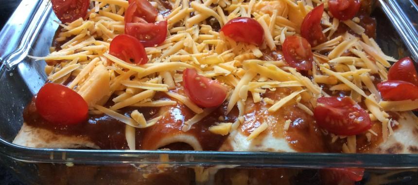 Sweet Potato and BBQ Enchiladas