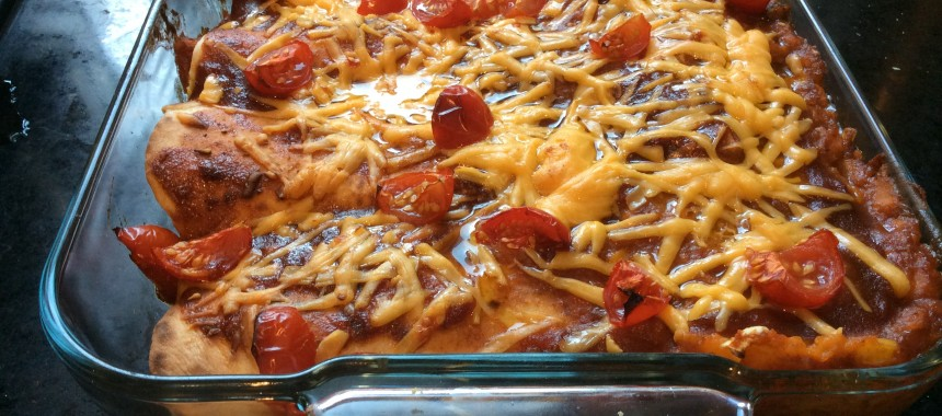 Sweet Potato and BBQ Enchiladas