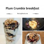 Plum crumble breakfast