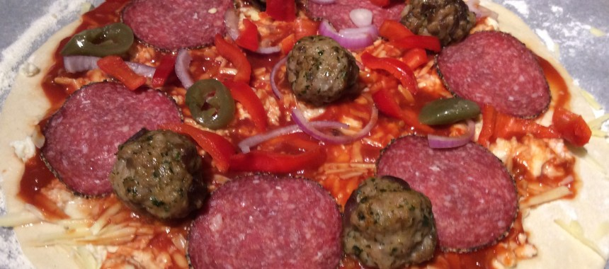 Italian Meatballs and BBQ Pizza