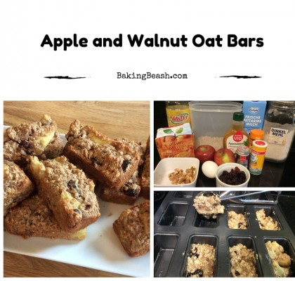 Apple and Walnut Oat bars