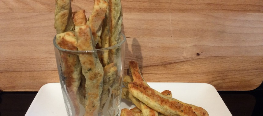 Cheese and Herb Bread Sticks