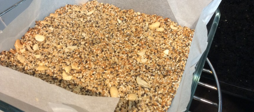 Sesame and Peanut Snack Bars