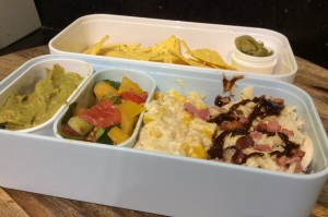 BBQ Chicken and Nachos Bento