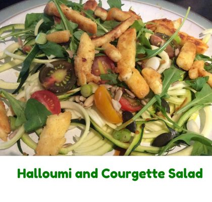 Halloumi and Courgette Salad1