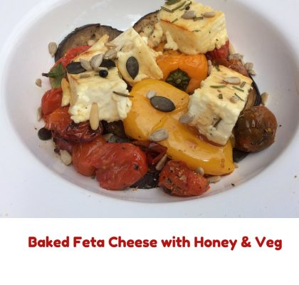 baked feta cheese and honey 2