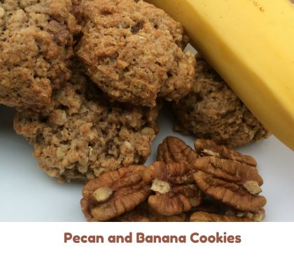 pecan and banana cookies 3
