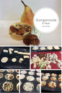 gorgonzola and pear quiches 5